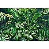 Hierba Hojas Verdes Recién Nacido Baby Shower Fiesta de cumpleaños Verano Selva Tropical Escena Fondos Fotografía Fondos A19 9x6ft / 2.7x1.8m