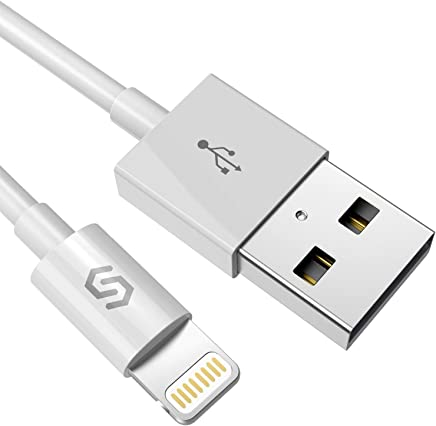 Syncwire Lightning iPhone Charger Cable - [Apple MFi Certified] 3.3ft/1m High Speed Apple Charger Cable Lead USB Fast Charging Cable for iPhone XS Max X XR 8 7 6s 6 Plus SE 5 5s 5c, iPad, iPod - White