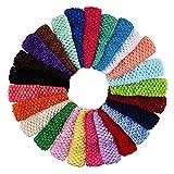 Numblartd 25 Pcs Colourful Crochet Elastic...