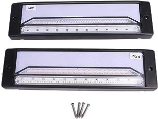 12V/24V LED テールランプ 2個 セット ファイバー シーケンシャル 流れる ウインカー 薄型 スモール ブレーキ リア バック トラック ボート トレーラー ダンプ ジェット リフト 等 汎用品 ドレスアップ カスタム パーツ