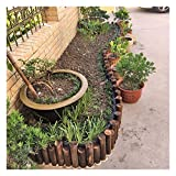 WXQIANG Valla de Madera for jardín Estaca Ronda Picket Esgrima balcón al Aire Libre Patio de Vallas fronterizas, 8 Tamaños (Color : Brown, Size : 90X35/40CM)