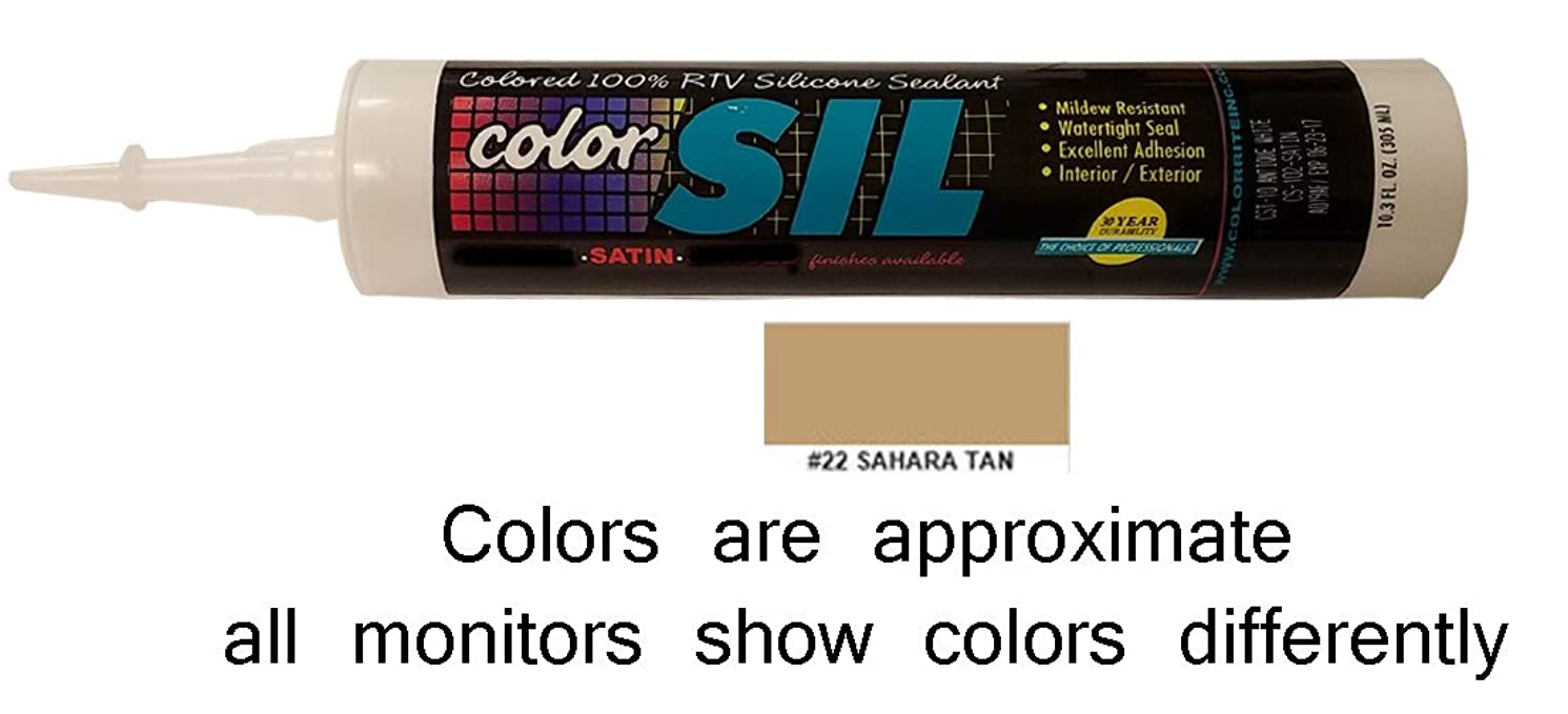 Color Matched Silicone Caulk - Custom Building Products (57 Colors)(Sahara Tan)