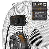 Brandson - Windmaschine Retro Stil   Ventilator in Chrom   Standventilator 30cm   Bodenventilator   hoher Luftdurchsatz   robuster Stand   stufenlos neigbarer Ventilatorkopf   silber