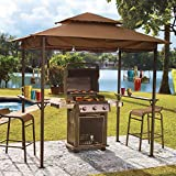 BrylaneHome Grillzebo Replacement Canopy, Taupe