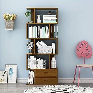 YaGFeng Estantería con Patas De Madera Biblioteca Inicio Estante De Exhibición De Almacenamiento En Rack De Estar En La Oficina De Habitaciones para el hogar Oficina Librero (Color : Brown, Size : B)