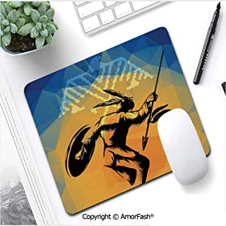 35.5x15.8 Inch Large Gaming Mouse Pad Mat Charming Mandala Design Pattern Long Extended Mousepad Desk Pad Stitched Edges