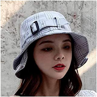 WYMAI Hat, Ladies Belt Fisherman Hat, Versatile Holiday Fashion Hat, Adjustable Size (56-58cm) Simple and Practical Product (Color : Gray)