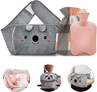 Toxin Hot Water Bottle,Rubber Warm Water Bag Pouch with Soft Waist Cover, Hot Water Bag for Neck and Shoulder, Back,Hand, ...