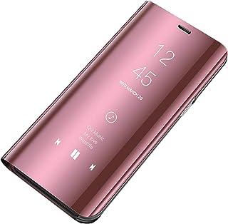 Rembcom Hoes Samsung Galaxy A41 hoes leer Galaxy A41 telefoonhoes spiegel Smart Flip Case 360° tasje cover mobiele telefoo...