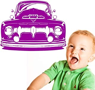 38x55cm,Wall Stickers for Kids Room, Truck Classic Car Hot Rod Ornament Murals Family Living Room Art Decals Refrigerator Romantic Gift Decal Stickers Waterproof Acrylic Artwork Home Door Wallpaper