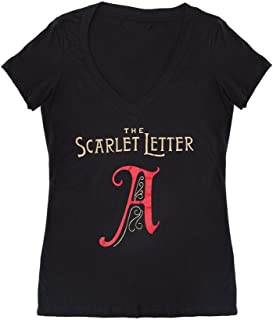 Women's Literary Classics Book-Themed V-Neck Tee T-Shirt