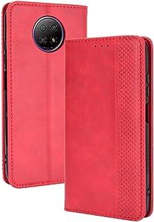 GOGME Lederen Case voor Xiaomi Redmi Note 9T 5G Case, Retro Style PU/TPU Wallet Folio Case, Collectie Premium Folio Cover ...