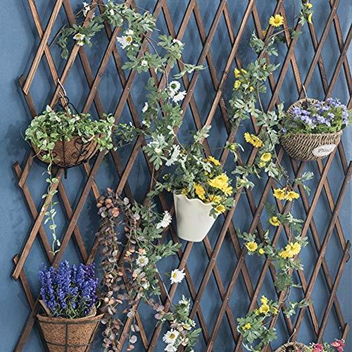Enrejado de madera para pared, enrejado expandible para plantas trepadoras de madera, marco de enrejado, marco para escalar, marco para colgar en la habitación, patio, jardín