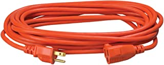 Southwire 2307SW Vinyl Outdoor Extension Cord In Orange With 3-Prong Plug (25 Feet, 16/3 gauge)