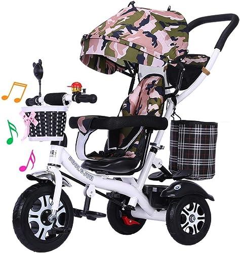 El ultimo 2018 New Kids Tricycle Trike, Trolley de de de Bicicleta para Niños 1-3-5 años de Edad Música giratoria Bicicleta Ligera 2-6 Coche de niña  online barato