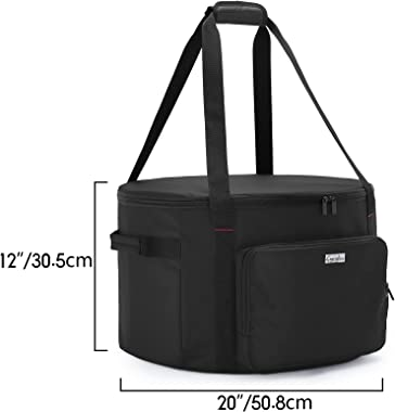 SAMDEW Outdoor Fire Pit Bag Compatible with Outland Firebowl Model 893 870 823, Firebowl Travel Carrying Case for 19-Inch Dia