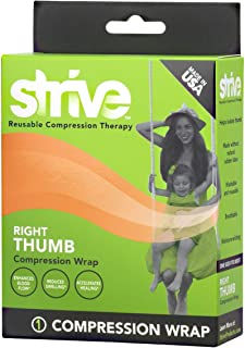 Strive Right Thumb Compression Wrap Reusable Support | Adjustable & Customizable for Men or Women
