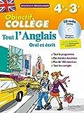Objectif Collège - Tout l'Anglais 4e-3e - Nouveau programme 2016 by Daniel GUIMBERTEAU (2016-06-29) - Hachette Éducation - 29/06/2016