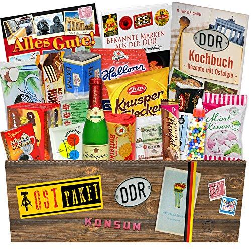 DDR Süßigkeiten Box mit DDR Waren / Geschenkeset zum Geburtstag für Freund