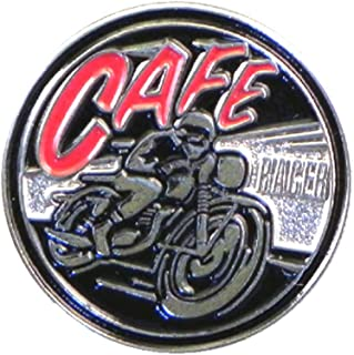 Metal Enamel Pin Badge Cafe Racer Motorcycle Biker by Mainly Metal