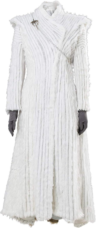 Manfis Game of Thrones Season 7 E6 Daenerys Targaryen Dany Winter Outfit Dragonstone Snow Dress