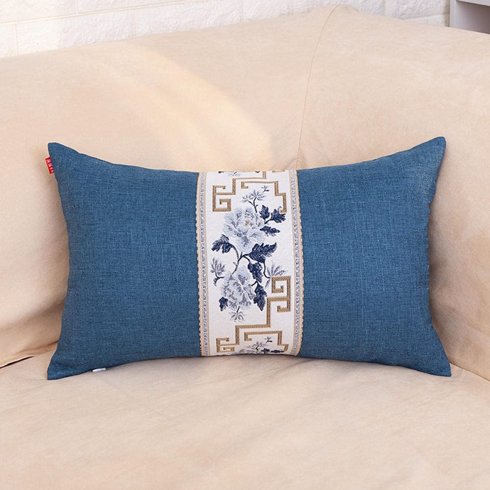 Pillow Cover Chinese Max 81% OFF Max 70% OFF Strip-up Line Embroidered and Cotton