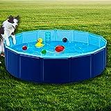 Forever Speed - Piscina para perros, piscina para gatos, piscina plegable, bañera, PVC respetuoso con el medio ambiente, antideslizante, bien sellada, para mascotas o regalos de los niños