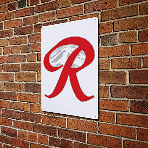 Lixiaolansign Rainier Beer Capital R Mountain 11.8 inx 7.9 in Aluminum Sign Rust Free Reflective and Weatherproof Easy to Mount