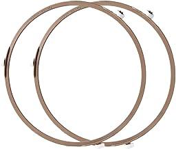 طبق داخلي للقطر للفرن والميكروويف 8. صينية دائرية دائرية مقاس 7 بوصة لصينية زجاجية قابلة للدوران (2 قطعة/بني)