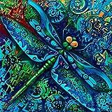 Rompecabezas de 2000 piezas para adultos para niños, rompecabezas, libélula azul, rompecabezas de 2000 piezas, tecnología Softclick significa que las piezas encajan perfectamente, 70 x 100 cm