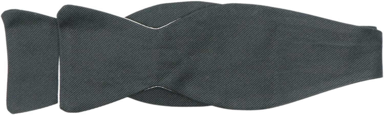 Dion Men's Reversible Silk Grosgrain Hook Bow Tie