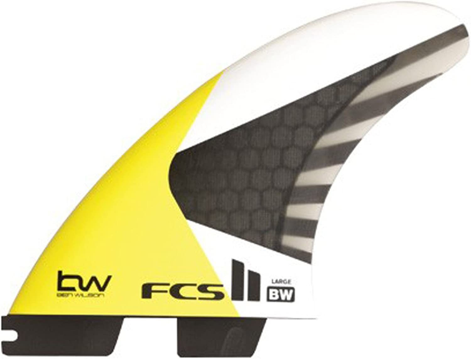 FCS II Ben Wilson Kite Surfing Tri Fin Set  High Speed foil Matrix