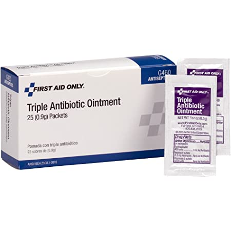 First Aid Only Triple Antibiotic Ointment Pack, 25 Count (G460)