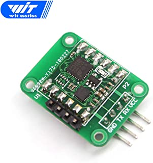 WitMotion WT901SD with 16G SD Card, MPU9250 Digital Tilt Angle Sensor, Triaxial Gyro+Accelerometer+Magnetometer(IIC Mode,TTL Serial,200HZ),3-Axis Triple-axis Gyroscope Sensor for Arduino