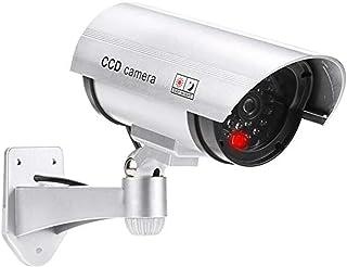 Dummy camera met lens, videobewaking, warenbeveiliging, bewakingscamera, nep-camera met rood ledlicht, bedrieglijk echt vo...