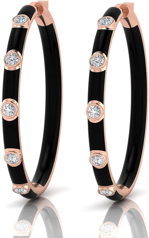 Spectrum IDCL Certified 14K Long-awaited White Earrings Selling for gold Diamond Hoop