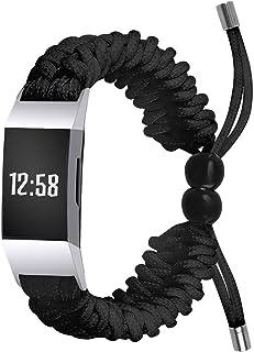 TopTen Sieraden Horloge Band Compatibel voor Fitbit Charge 3/Charge 4 Fitness Polsband, Roestvrij Stalen Armband Vervangin...
