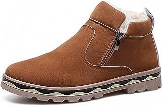 Tebapi Mens Backpacking Boots Shoes Men Ankle Snow Boots Slip on Winter Warming Fur Ski Antiskid Bottom Zapatillas Hombre Botas Footwear Comfortable