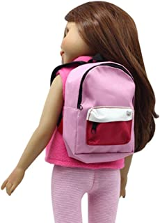 484f419418 GBSELL Double Backpack Schoolbag Accessories For 18 inch Our Generation  American Girl Boy Doll (