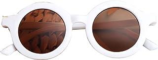 Goutui - Gafas de sol de marco redondo con protección UV para niños y niñas