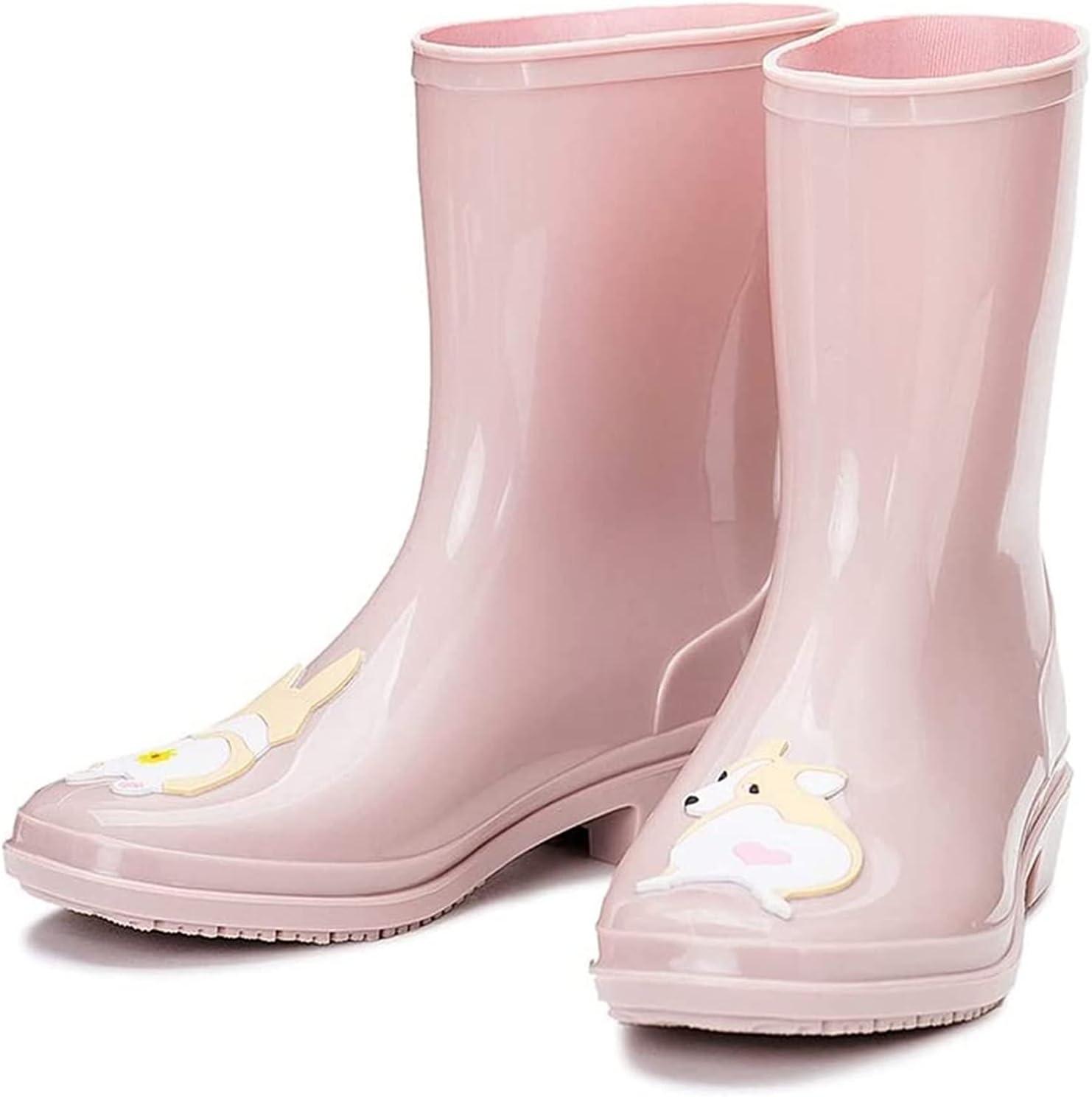 AMDHZ Women rain Boots San Max 49% OFF Jose Mall Women's Tube Middle Wa Rain Fashion