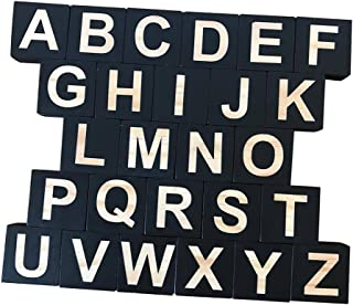 HOMYL 26 Embellishenment Blocks Cubes Kids Toy English Alphabet Games Wooden Craft Pre-School Kindergarten Learn Study Toys #c