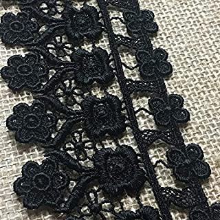 NEW 2 INCH GRAPE PATTERN BLACK VENISE LACE FABRIC TRIM