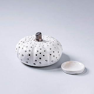Calabaza de cerámica de Halloween hecha a mano luminarias de Acción de Gracias candelabro tallado a mano decoración del ho...