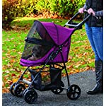 Pet Gear No-Zip Happy Trails Lite Pet Stroller for Cats/Dogs, Zipperless Entry, Easy Fold with Removable Liner, Storage Basket + Cup Holderr, Boysenberry 9