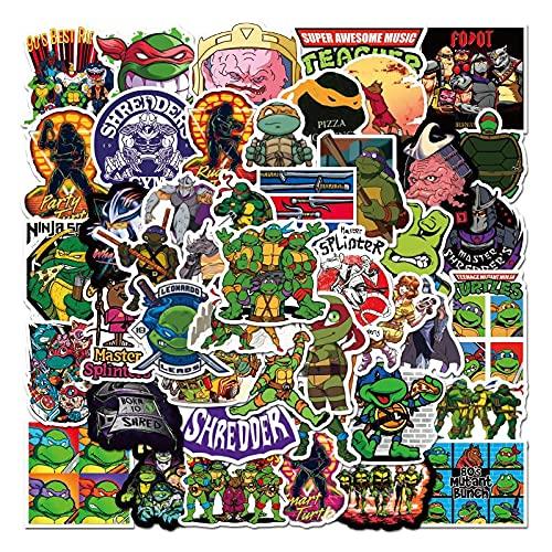 BUCUO Anime Teenage Mutant Ninja Turtles Cartoon Graffiti Sticker Auto Moto Skateboard Chitarra Tazza di Acqua Sticker Impermeabile 100 Pz