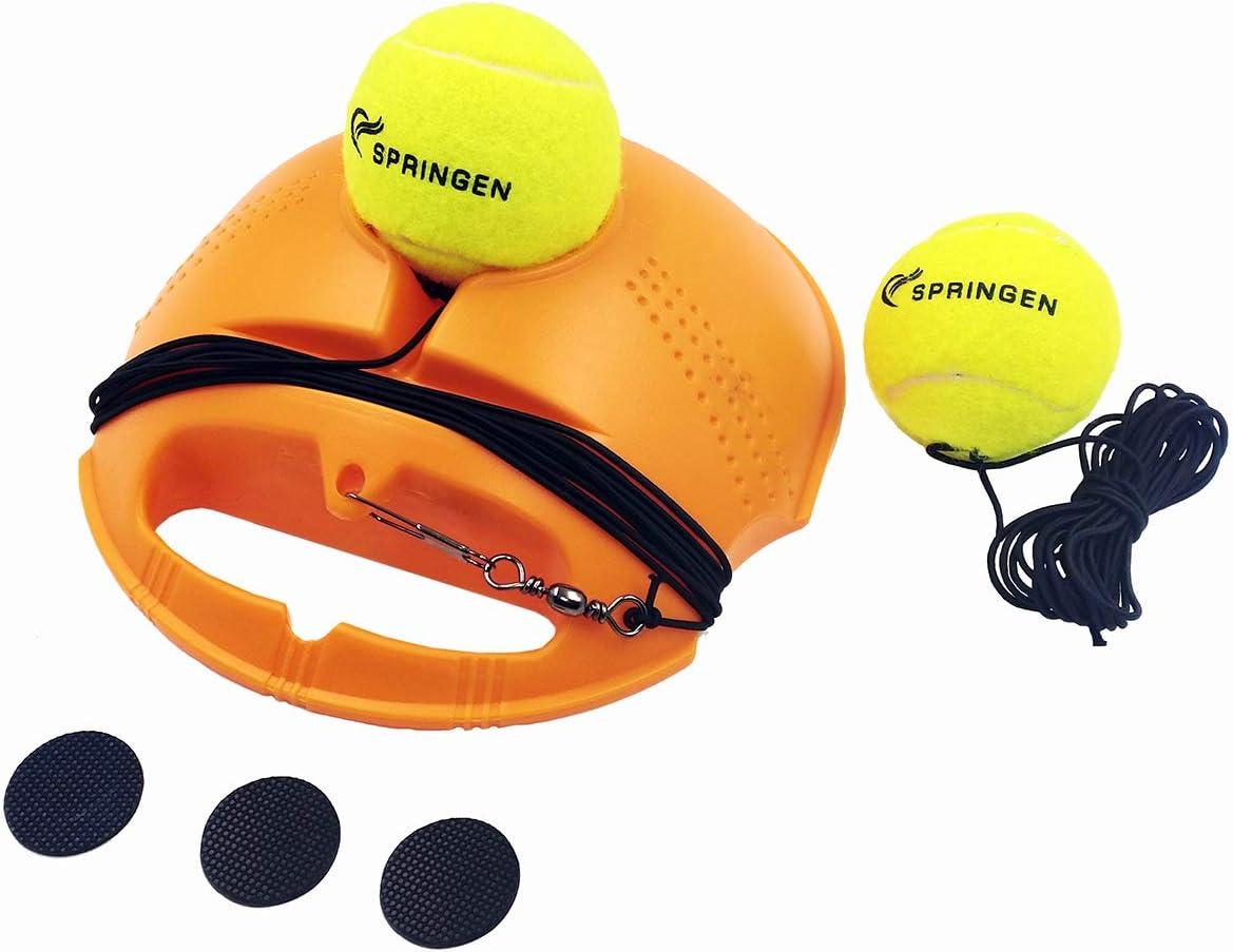 Springen Tennis Trainer Rebound Baseboard Tennis Ball Self-Study Practice Tool Equipment Sport Exercise for Beginner with 2 Balls