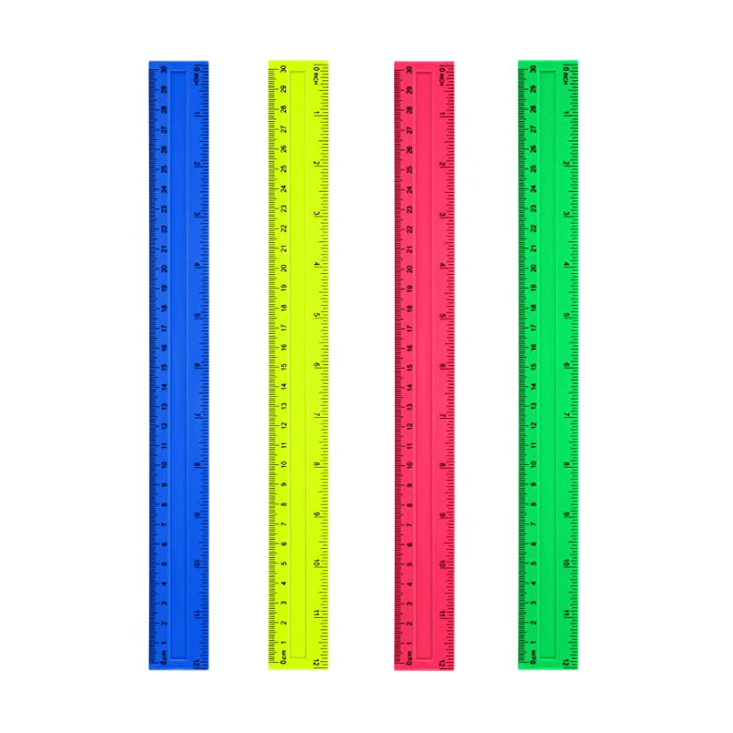 4 Ranking TOP11 Pack 12 Inches Measuring Rule Washington Mall Plastic t Student Ruler Learning