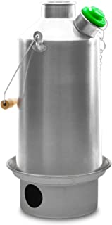 Kelly Kettle Camp Stove Stainless Steel - Boils Water Within Minutes, Uses Natural Fuel, and Enables You to Rehydrate Food or Cook a Meal
