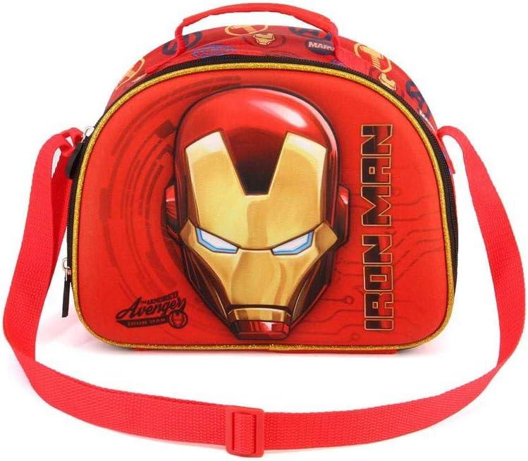 Karactermania Iron Man Armour-3D Frühstückstasche Bolsa Escolar 26 Centimeters Rojo (Red)